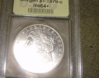 Morgan silver dollar 1879 c ms 64++
