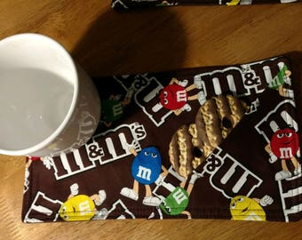 MADE TO ORDER.  You choose color/theme.  Mug Rugs, Set of 4.
