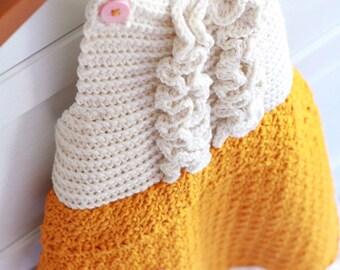 Crochet Pattern, apron pattern, girls apron pattern, child apron pattern, full apron pattern, vintage apron, crochet smock, JOSIE APRON