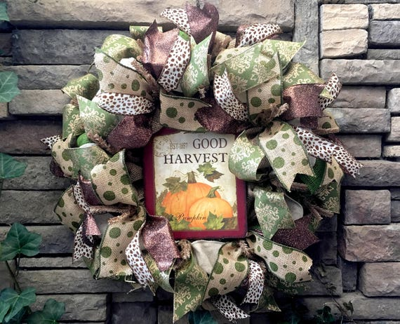Fall Wreath, Autumn Wreath, Thanksgiving Wreath, Fall Decor, Fall Decorations, Burlap Wreath, Holiday Wreath, Holiday Decor, Pumpkin Wreath