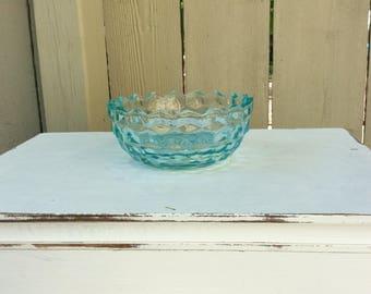 Vintage Fostoria Seafoam Green Bowl