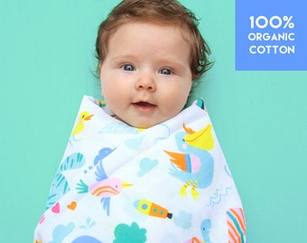 Muslin Swaddle Blanket - 100% organic cotton - swaddle blanket boy and girl - swaddle blanket muslin - swaddle wrap - baby shower gift