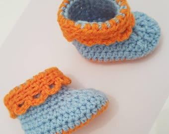 Baby booties crochet - lace shoes - newborn - mixed or girl