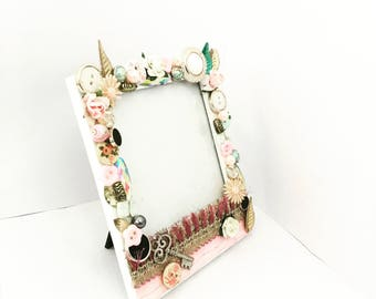 Pastel Pink Cherry Blossom Picture Frame