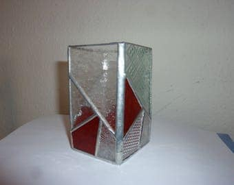Stained glass pen holder.Stained glass box.