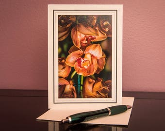 Orchids No.3-Greeting cards-Note Cards-Flower-Nature-Happy Birthday-Family-Love-Photo Card-Floral-Wedding-Celebration-Congratulation-Gift