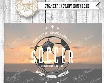 ON SALE Soccer SVG Files, Retro Soccer Cut Files, Fall Sport Svg Files Tee Shirt Soccer Stencil Htv Stencil