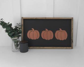 Pumpkin Handmade Sign