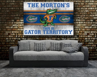 Florida Gators | Stretched Canvas Wall Art | Add Your Name | Customized |  Retro