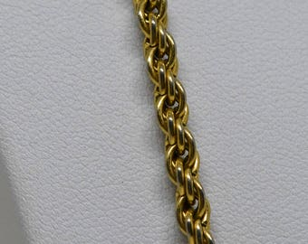 God tone rope chain necklace