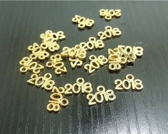 10pcs 2018 Charms, golden Charm pendants, Jewelry Making Charms,14*9mm ZZN009