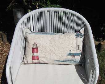 "Lighthouse Pillow Cover 30x50cm (12""x20""), Throw Pillow, Marine Decoration, Nautical home decoration, Cushion, house warming, Sea-Life decor"