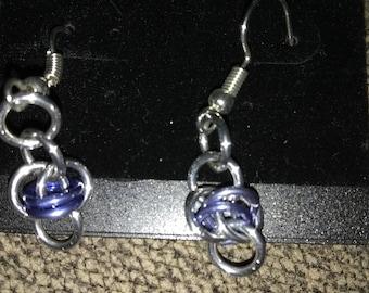 Barrel Weave Chainmaille earrings (Hypoallergenic)