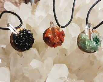 Crystal Gemstone Chip Necklaces