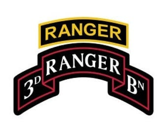 US Army 3rd Ranger Battalion Patch with Ranger Tab Vector Files, dxf eps svg ai crv