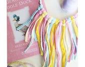 Pastel spring and Easter fringe necklace