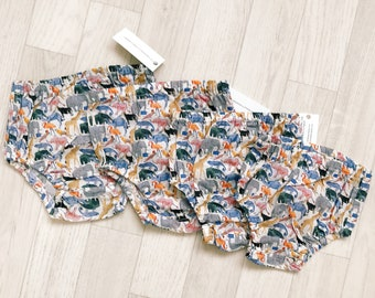 READY to SHIP Queue for the Zoo ASTER Handmade Boys Liberty of London Print Baby Bloomers Nappy/Diaper Cover