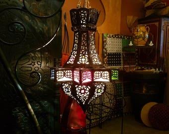 moroccan small pierced metal lantern star design handmade moroccan lantern copper finish