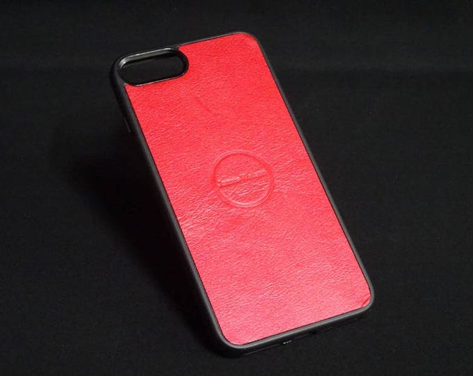 Jimmy Case - Fits Apple iPhone 7 Plus + - Candy Red - Kangaroo leather - Handmade - James Watson