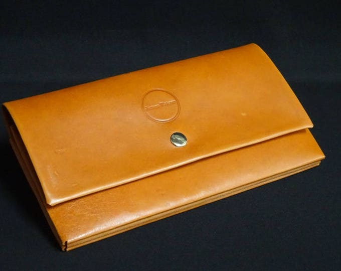 James Flat Purse - Whiskey Tan - Kangaroo leather purse with RFID Credit Card Blocking - Handmade in Australia -James Watson