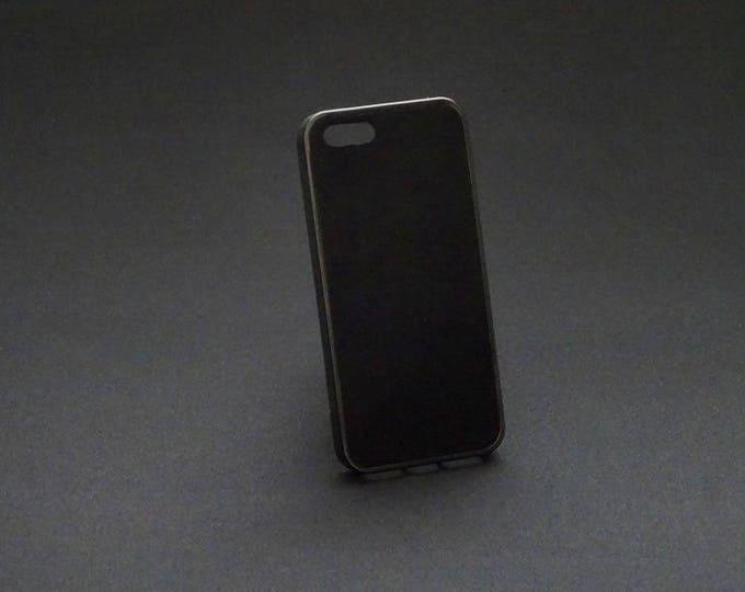 Apple iPhone 5 5S 5SE - Jimmy Case in Black Suede - Kangaroo leather - Handmade - James Watson