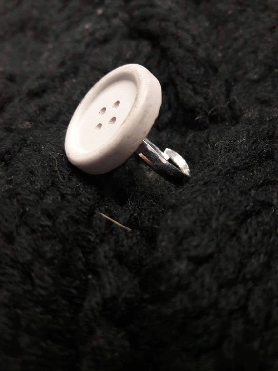 Concrete Button Ring // Button Ring // Concrete Ring // Brutalist Ring // Statement Ring
