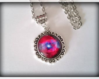 Collection _ number 2 glass cabochon Galaxy necklace