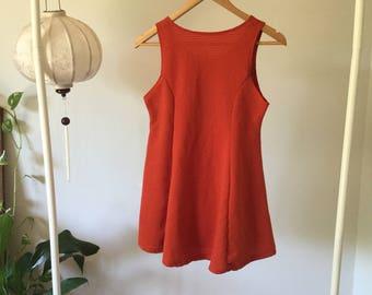 Orange textured dress