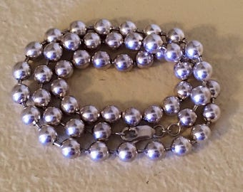 Heavy sterling silver beaded necklace -over 86 g