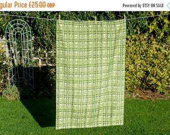 SALE Green Barkcloth Vintage Retro Pair of Curtains - Mid Century Modern Home