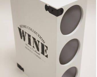 black and white wine stand, three bottles wine stand