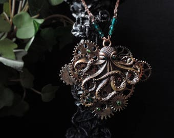 "Steampunk ""Neptunus, God of the Sea"" necklace"