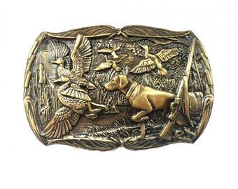 "Trophy brass buckle ""Duck hunting"" || Solid brass buckle || Hunter belt buckle || Duck season || Duck hunter gift || Duck buckle || Sash"