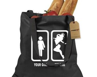 Your Girl vs. My Girl Shopping Tote Bag