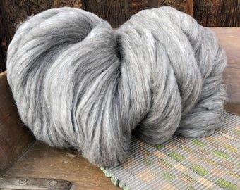 """Navajo Churro Sheep Pin Draft Roving - """"Spinner"""" Gray - 16 ounces"""
