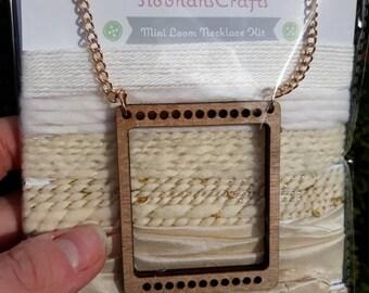 Cream mini loom necklace kit