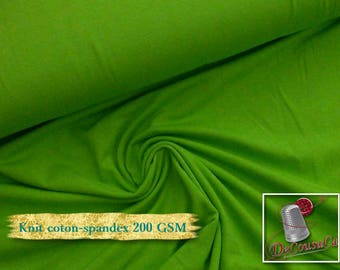 Knit, 200 gsm, Lime, cotton-spandex, 92-8%, jersey, spandex, multiple quantity cut in one piece,