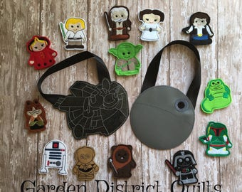 Ultimate Inspired Star Wars Finger Puppet Set  With Cases and a Tote