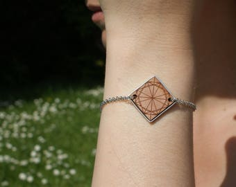 Silver wooden BEW POLLEN bracelet