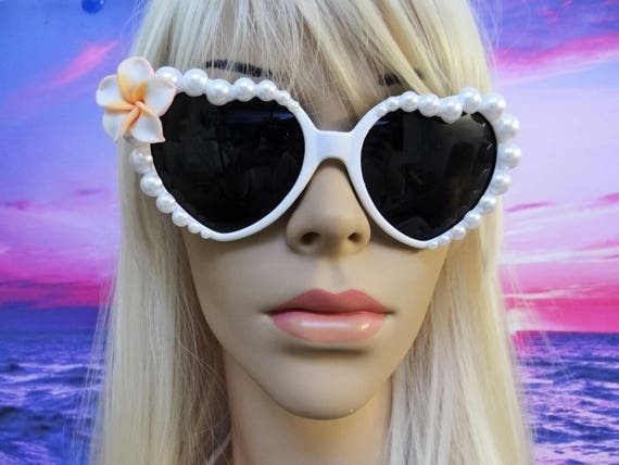 I'm Really A MERMAID Sunglasses Sunnies Sun Glasses Heart Shaped Love Im Ariel Beach Sea Ocean Nautical Pinup The Little White Pearl A008