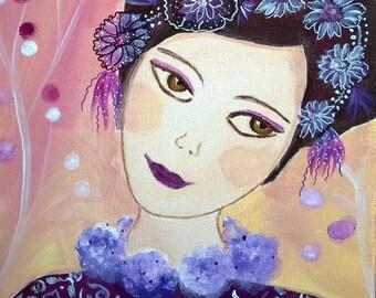 Emilie dream art contemporary young girl romantic-acrylic