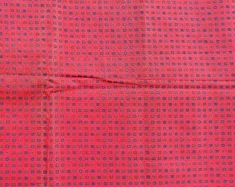"""3 Yards Red w/Hunter Green Patterned Lining Fabric 36"""" Wide Polyester New"""