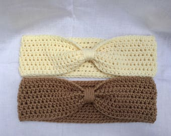 Simple crochet headband, Crochet ear warmer, comes in 9 eyecatching colors, head warmer, fall/winter headband, MADE TO ORDER