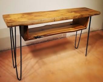 Sofa Table, Console Table, Media Table with Shelf, Cocktail Table, Hairpin Legs, Mid Century Table, Urban Farmhouse, Entry Table, Wood Table