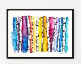 Birch Print, Fine art print, Birch tree Print, Aspen print, Landscape print, Birch tree wall decor, Aspen art, Birch art, Printable art
