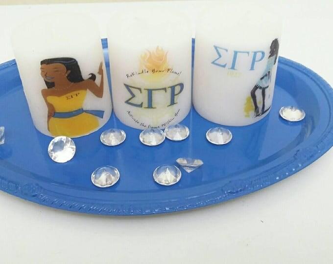 Designer Inspired Sigma Gamma Rho Sorority Candle Set