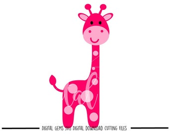 Giraffe svg / dxf / eps files. Digital download. Small commercial use ok.