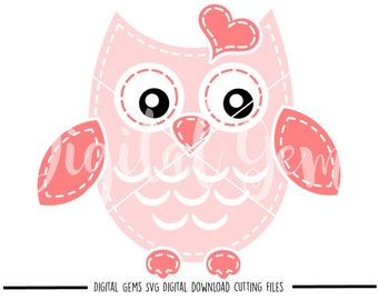 Owl  svg / dxf / eps / png files. Digital download. Compatible with Cricut and Silhouette machines. Small commercial use ok.