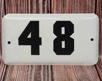 Vintage door number sign 48