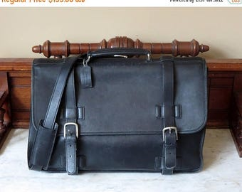 Back To School Sale Coach Madison Briefcase In Black Leather Style No 5325- VGC